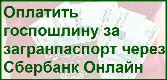 Как оплатить пошлину за паспорт через Сбербанк