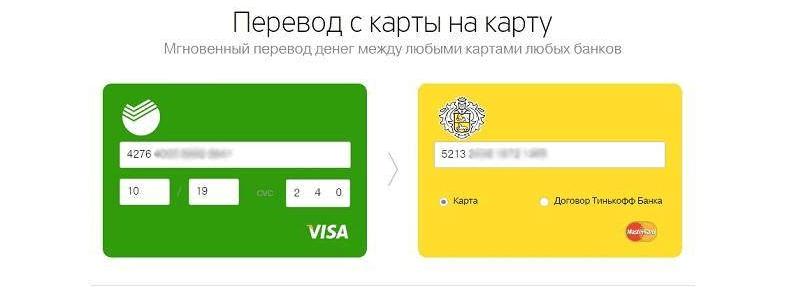 Как перевести деньги с Тинькофф на Сбербанк
