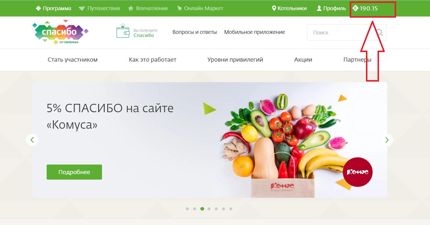 Как перевести спасибо от Сбербанка в рубли